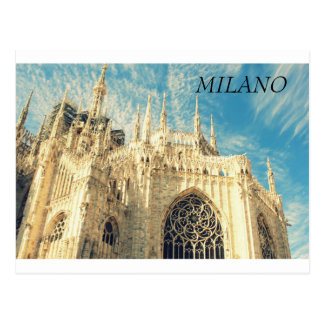 Cathedral Duomo  in Milano, Italy Postcard