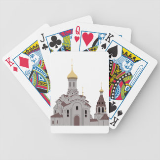 Cathedral Illustration Bicycle Playing Cards