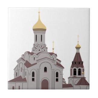 Cathedral Illustration Ceramic Tile