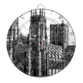 Cathedral Illustration Dartboard