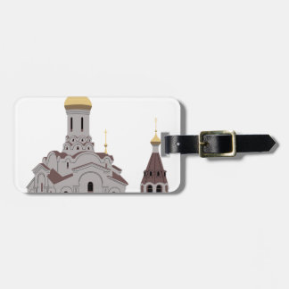 Cathedral Illustration Luggage Tag
