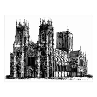 Cathedral Illustration Postcard