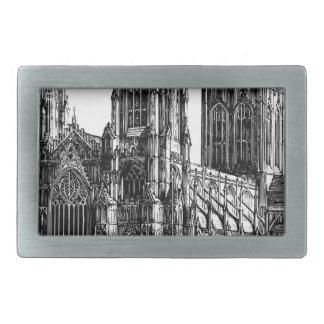 Cathedral Illustration Rectangular Belt Buckles
