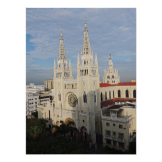 Cathedral in the Morning - Guayaquil - Ecuador Poster