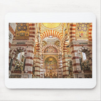 Cathedral Notre Dame de la garde in Marseille Mouse Pad