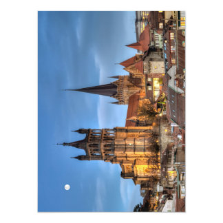 Cathedral Notre Dame of Lausanne, Switzerland, HDR 14 Cm X 19 Cm Invitation Card