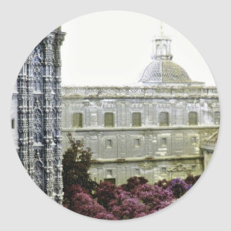 Cathedral Of Sevilla Classic Round Sticker