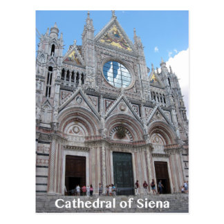 Cathedral of Siena Front Exterior Photo Postcard