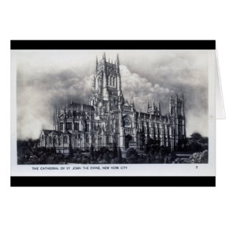 Cathedral of St. John the Divine, NYC Vintage Card