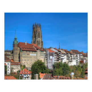 Cathedral of St. Nicholas in Fribourg, Switzerland 11.5 Cm X 14 Cm Flyer