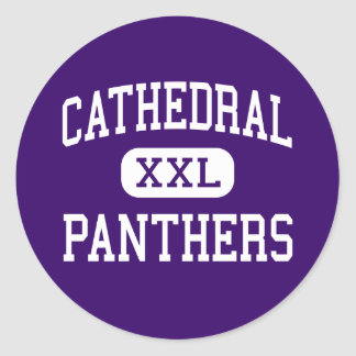 Cathedral - Panthers - High - Springfield Classic Round Sticker