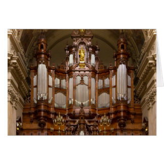 Cathedral  pipe organ, Berlin Card