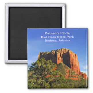 Cathedral Rock, Arizona Square Magnet