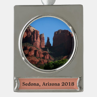Cathedral Rock in Sedona Arizona Silver Plated Banner Ornament