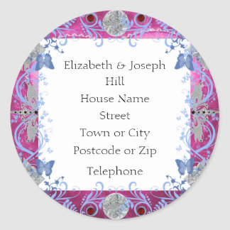 Cathedral Rubies Art Deco Favors Classic Round Sticker