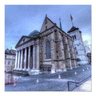 Cathedral Saint-Pierre, Peter, Geneva,Switzerland 13 Cm X 13 Cm Square Invitation Card