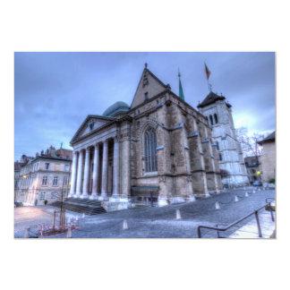 Cathedral Saint-Pierre, Peter, Geneva,Switzerland 13 Cm X 18 Cm Invitation Card