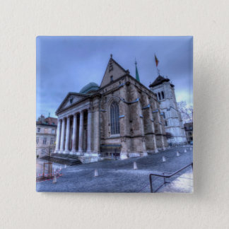 Cathedral Saint-Pierre, Peter, Geneva,Switzerland 15 Cm Square Badge