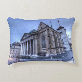 Cathedral Saint-Pierre, Peter, Geneva,Switzerland Decorative Cushion