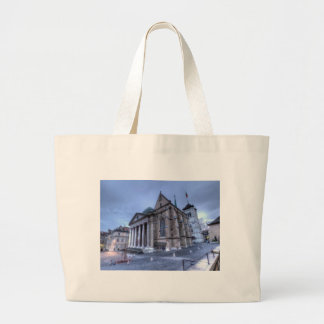 Cathedral Saint-Pierre, Peter, Geneva,Switzerland Large Tote Bag