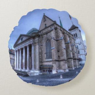Cathedral Saint-Pierre, Peter, Geneva,Switzerland Round Cushion