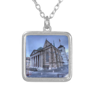 Cathedral Saint-Pierre, Peter, Geneva,Switzerland Silver Plated Necklace