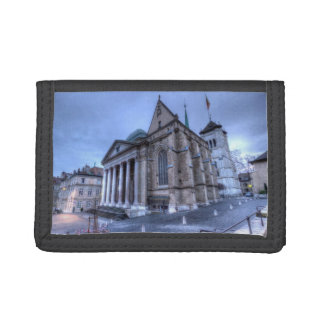 Cathedral Saint-Pierre, Peter, Geneva,Switzerland Tri-fold Wallet