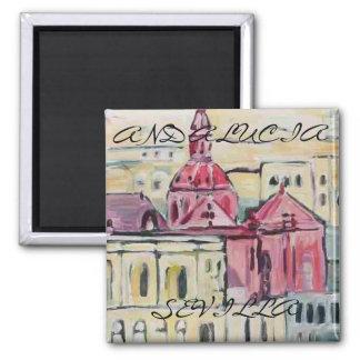 Cathedral_Sevilla, SEVILLA, ANDALUCIA Square Magnet