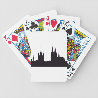 Cathedral Silhouette Bicycle Playing Cards