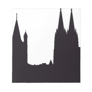 Cathedral Silhouette Notepad