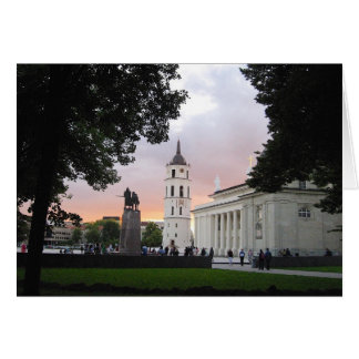 Cathedral Square in Vilnius, LITHUANIA Card