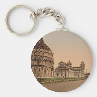 Cathedral Square, Pisa, Tuscany, Italy Basic Round Button Key Ring