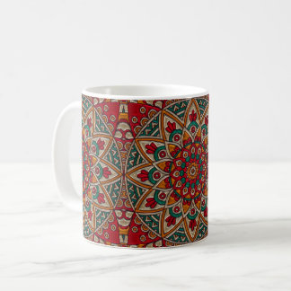 Cathedral Style - Red Flower Coffee Mug