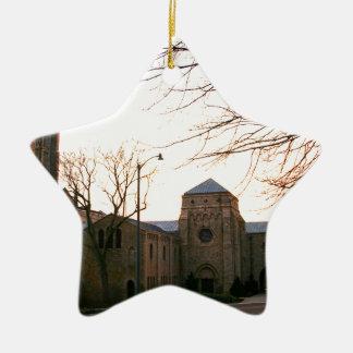 Cathedral Sunset Ceramic Star Decoration