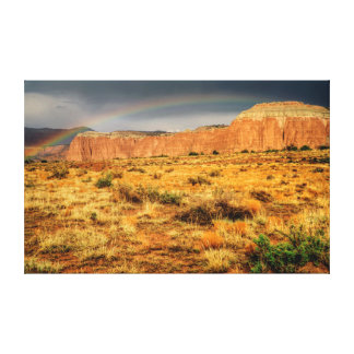 Cathedral Valley Rainbow Canvas Print
