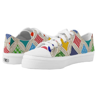 Cathedral Window Quilt design Low Tops
