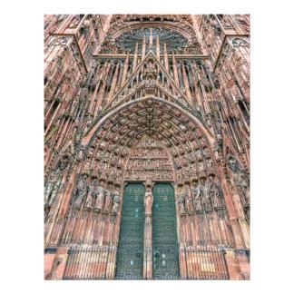 Cathedrale Notre-Dame, Strasbourg, France 21.5 Cm X 28 Cm Flyer