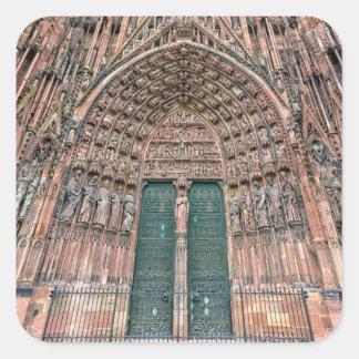 Cathedrale Notre-Dame, Strasbourg, France Square Sticker
