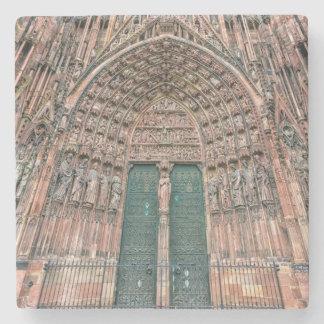 Cathedrale Notre-Dame, Strasbourg, France Stone Coaster