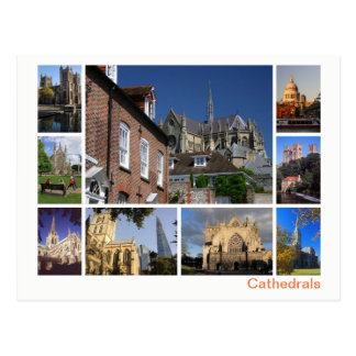 Cathedrals multi-image postcard