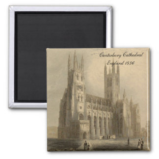 Cathedrals of England Series: Canterbury 1836 Magnet