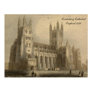 Cathedrals of England Series: Canterbury 1836 Postcard
