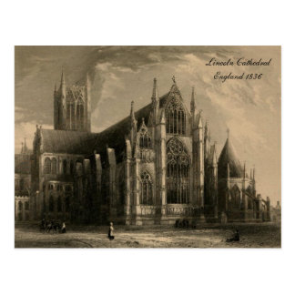 Cathedrals of England Series: Lincoln 1836 Postcard