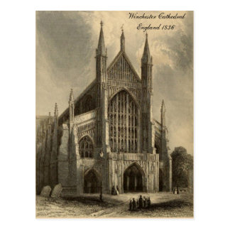 Cathedrals of England Series: Winchester 1836 Postcard