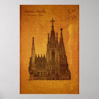 Cathedrals Sagrada Fam�lia Barcelona Poster