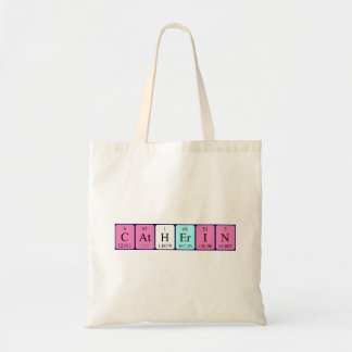 Catherin periodic table name tote bag