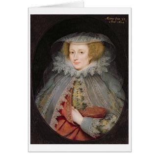 Catherine Killigrew, Lady Jermyn, 1614 (oil on pan Card
