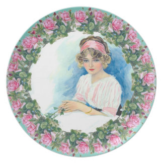 Catherine Klein Roses Victorian Lady Plate