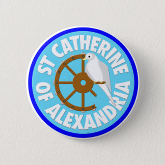 Catherine of Alexandria 6 Cm Round Badge