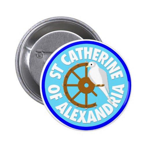 Catherine of Alexandria Button